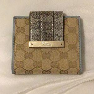 Light Blue Gucci Wallet